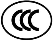 白色CCC认证标志