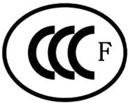 白CCC认证标志-F
